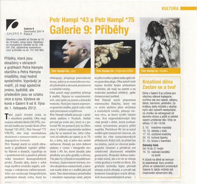 Petr Hampl 43 a Petr Hampl 75/ Galerie 9: Příběhy, Devítka 10/2012