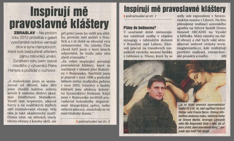 Inspirují mě pravoslavné kláštery, Náš region, 21. 2. 2013