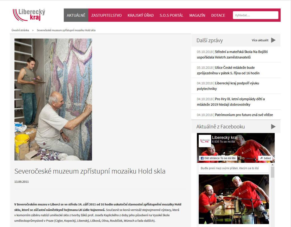 Severočeské muzeum zpřístupní mozaiku Hold skla